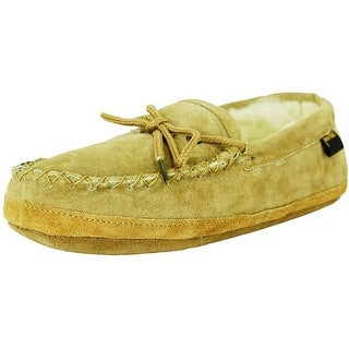 Old Friend Slippers Mens Sheepskin Soft Sole Moccasin Chestnut