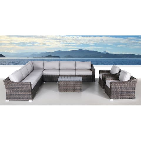 10 Piece Sectional Seating Group with Cushions