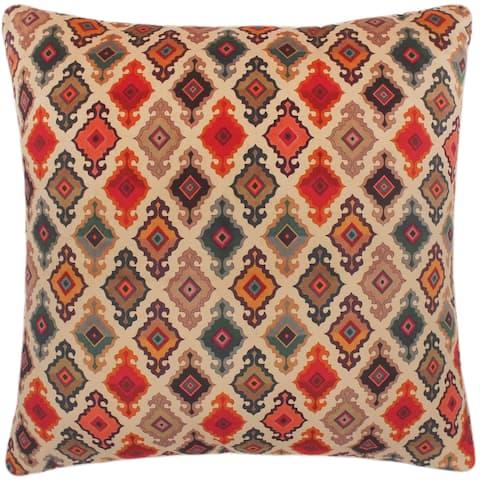 Eclectic Pam Printed Italian Velvet Handmade Pillow