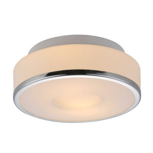 Bromi Design B4001 Lynch 2 Light White Drum Pendant