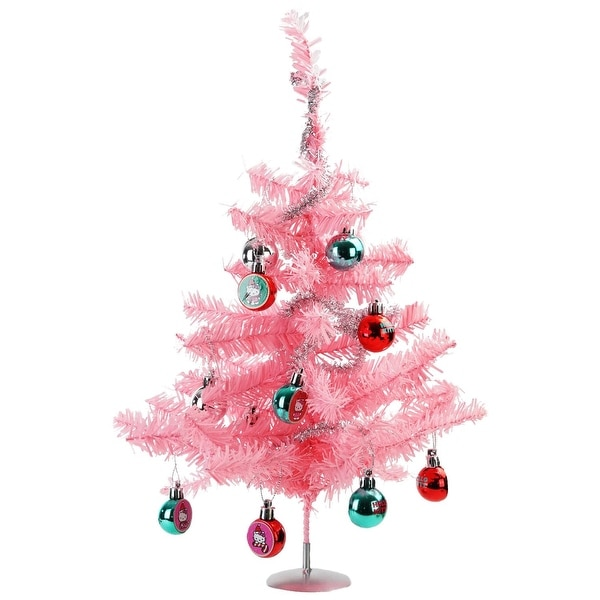 "15"" Hello Kitty Tinsel Christmas Tree Set Including Tree, Garland, and Ornaments"