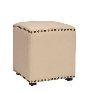 Hillsdale Furniture 50990 Evie 17 Inch Wide Upholstered Vanity Stool with Nailhe - N/A