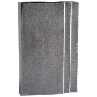 "Cyan Design 08882  Skyscraper 7-3/4"" Wide Aluminum Vase - Zinc"