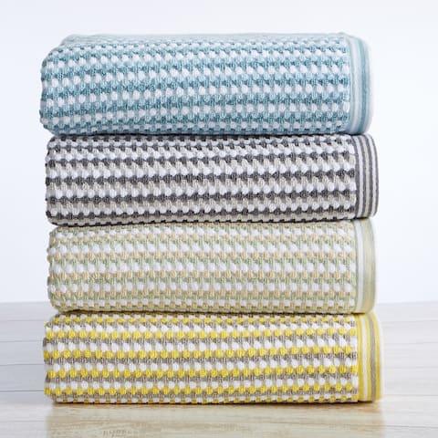 Great Bay Home Cotton Multi-Striped Bath Towel Sets