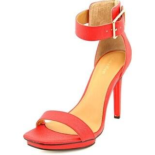 Calvin Klein Vable Open Toe Leather Platform Sandal