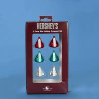 72 Chocolate Shop Hershey's Red, Green & Silver Mini Kisses Christmas Ornaments - RED