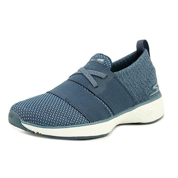 Skechers GoWalk Sport - Devote Women Round Toe Canvas Blue Walking Shoe