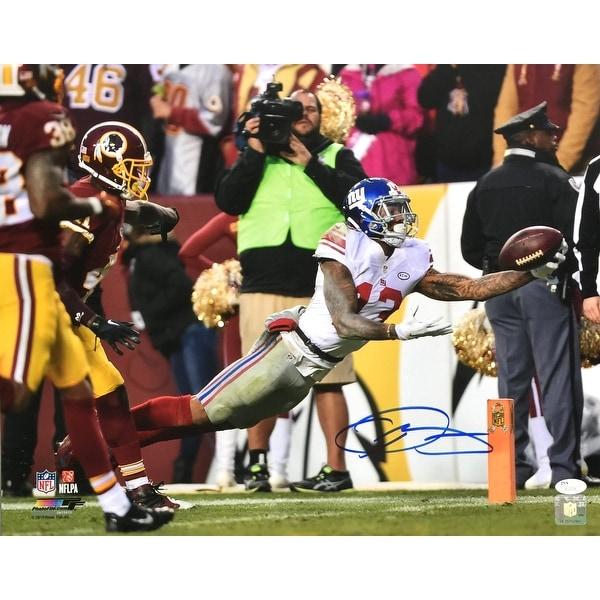 the latest 0899c 16be4 Odell Beckham Jr. Signed 16x20 NY Giants One Handed Catch vs Redskins Photo  JSA