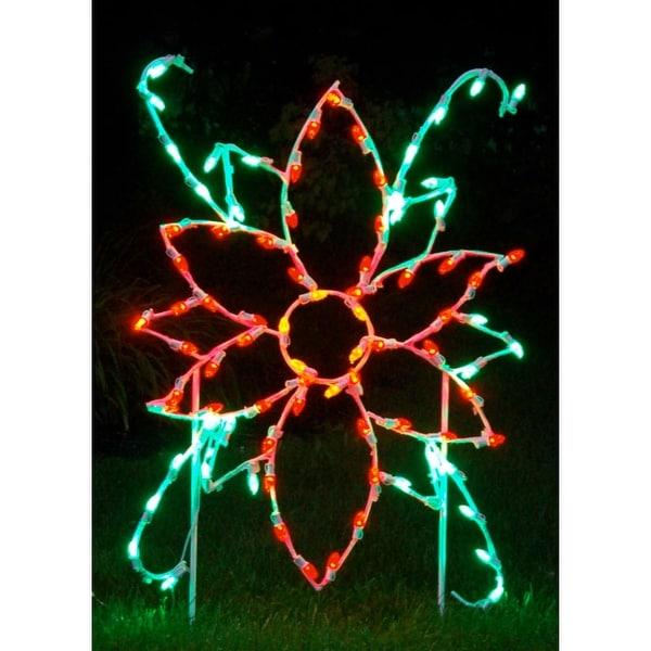 Christmas at Winterland WL-GM102-LED LED Light Poinsettia Flower - MultiColor - N/A