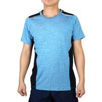 Adult Men Compression Breathable Top Short Sleeve Sports T-shirt Blue M