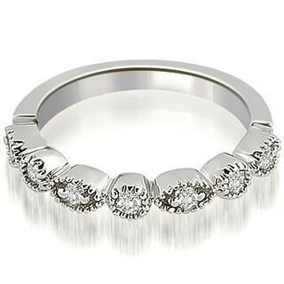 0 25 CT Round Cut Prong Set Diamond Bezel Wedding Band In 14KT Gold