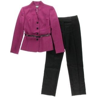 Tahari ASL Womens Jay Herringbone 2PC Pant Suit - 2