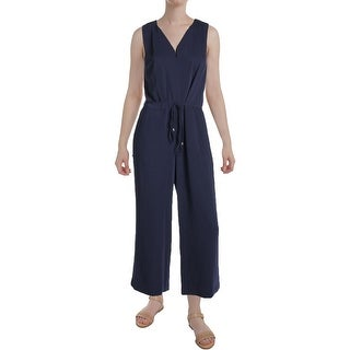 Lauren Ralph Lauren Womens Lianfa Jumpsuit Cropped Wide Leg