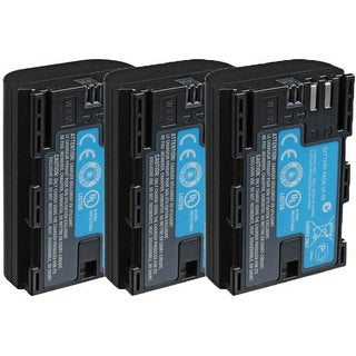 Replacement Battery LP-E6 / BLI-357 / 3347B001 7.2v Lithium Ion For CANON Camera Models New 3 Pack
