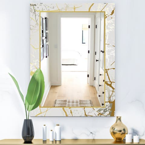 Designart 'Marbled Marvelous 3' Glam Mirror - Vanity Mirror