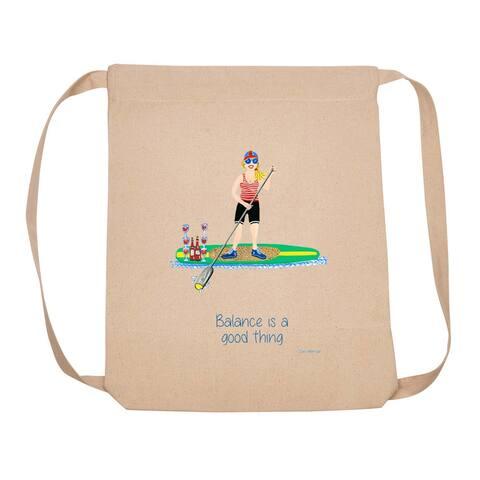 """18"""" Beige Adjustable Backpack with Balance Design"""