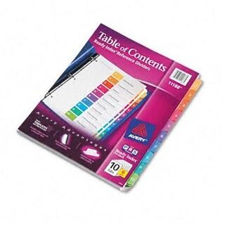 Ready Index Contemporary Contents Divider 1-10 Multicolor Lette