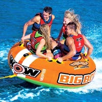 WOW Sports Big Boy Racing 1-4 Person Towable Water Tube For Pool and Lake