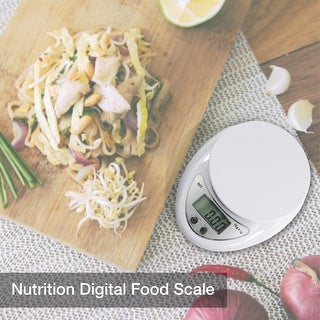 Partysaving Professional Multifunction Kitchen and Nutrition Digital Food Scale, White