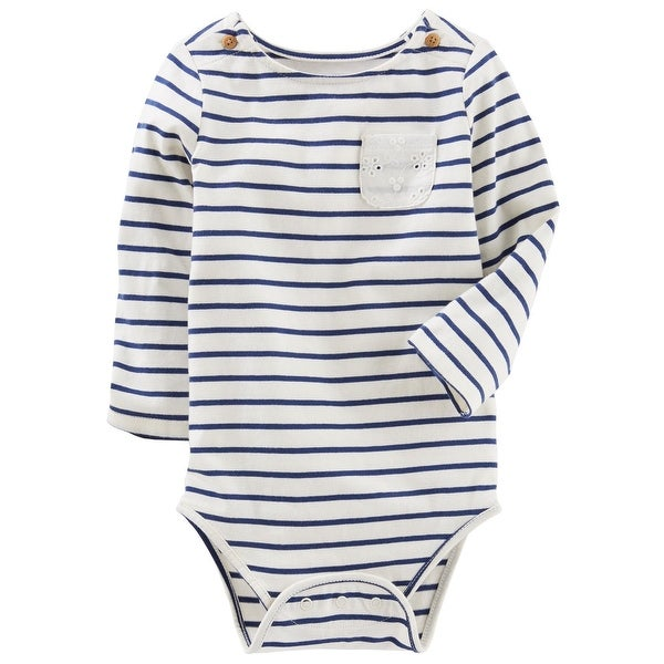 ce1a0bc54 Shop OshKosh B'gosh Baby Girls' Striped Jersey Bodysuit, 6-9 Months - Free  Shipping On Orders Over $45 - Overstock - 26518048