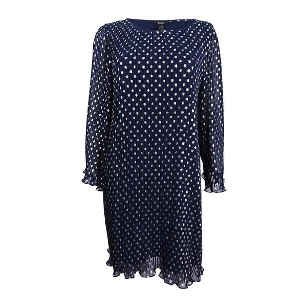 47249cb6d35b Shop MSK Women's Metallic-Polka-Dot Pleated Chiffon Dress - Free ...