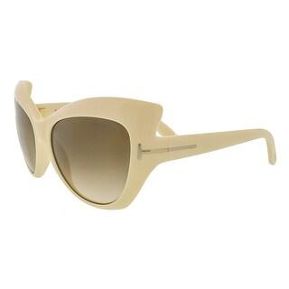 Tom Ford FT284/S 25F Bardot Ivory Full Rim Cateye Sunglasses - 59-17-130