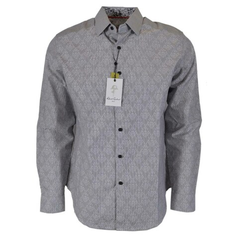 Robert Graham DYNAMO Skull Jacquard Print Button Down Sport Shirt
