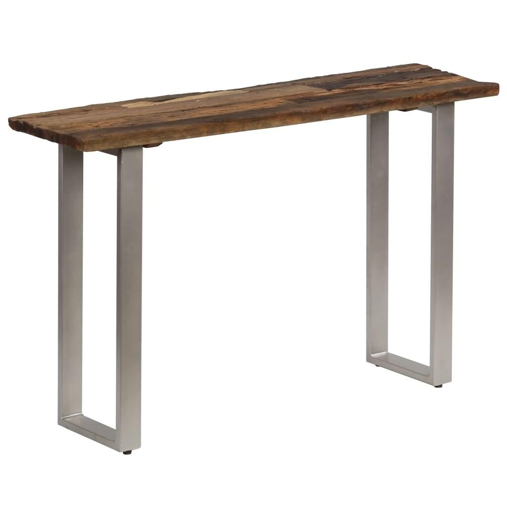 Vidaxl Console Table Sleeper Wood And Steel 47 2 X13 8 X29 9 Overstock 29049663