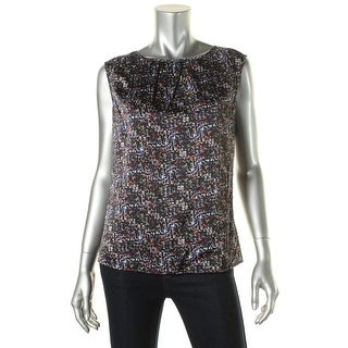 Tahari ASL Womens Pullover Top Charmeuse Gathered Neckline - s