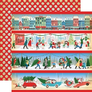 "A Very Merry Christmas Double-Sided Cardstock 12""X12""-Border Stripes"
