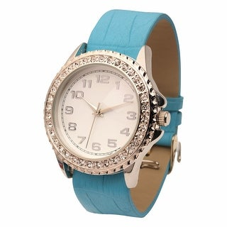 Women's Oversized Rhinestone Studded Watch Face