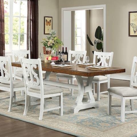 Furniture of America Sylmer Transitional Dark Oak Dining Table