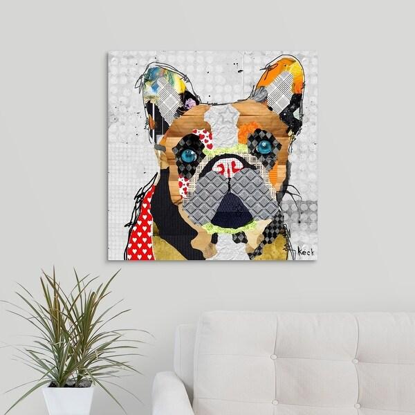 """""""French Bulldog Head"""" Canvas Wall Art"""