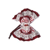 Isobella & Chloe Girls Red White Bow Lace Headband