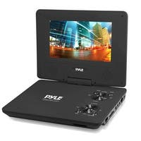 9'' Portable CD/DVD Player, Built-in Rechargeable Battery, USB/SD Card Memory Readers (Black)