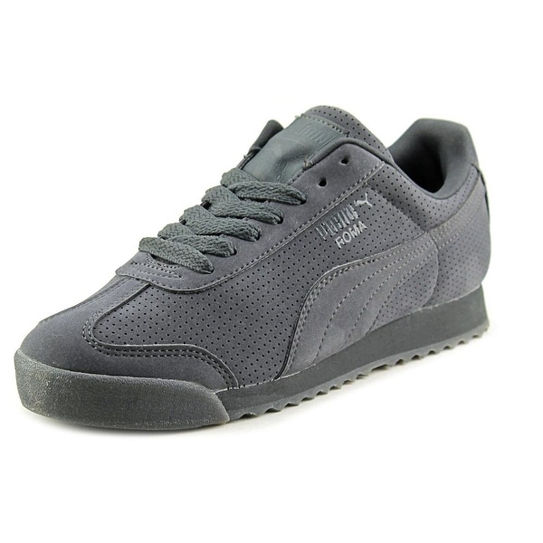 Puma Roma Mono Translucent Round Toe Suede Sneakers