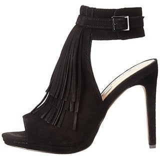 Jessica Simpson Womens MARIENNA Leather Open Toe Ankle Strap Classic Pumps