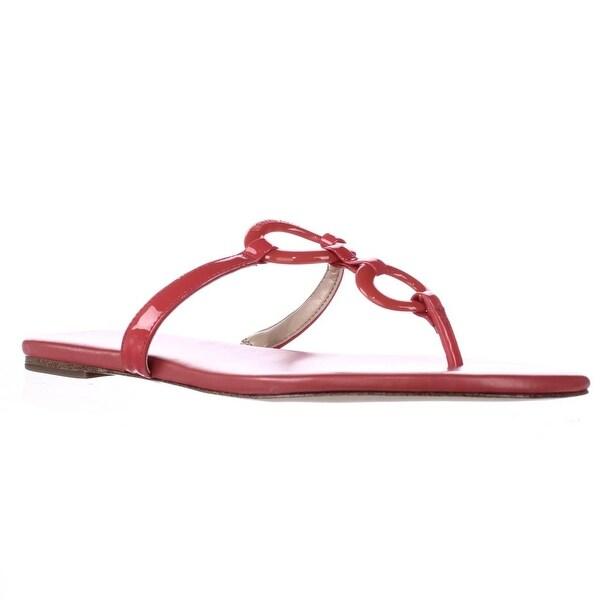MICHAEL Michael Kors Claudia Flat T-Strap Sandals - Coral Reef