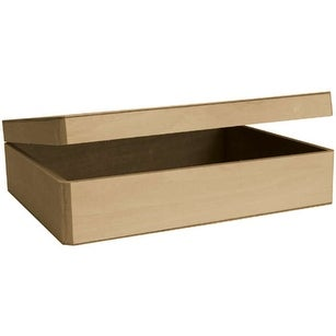 "Basswood Hinged Cornice Box-12""X3.25""X9"""