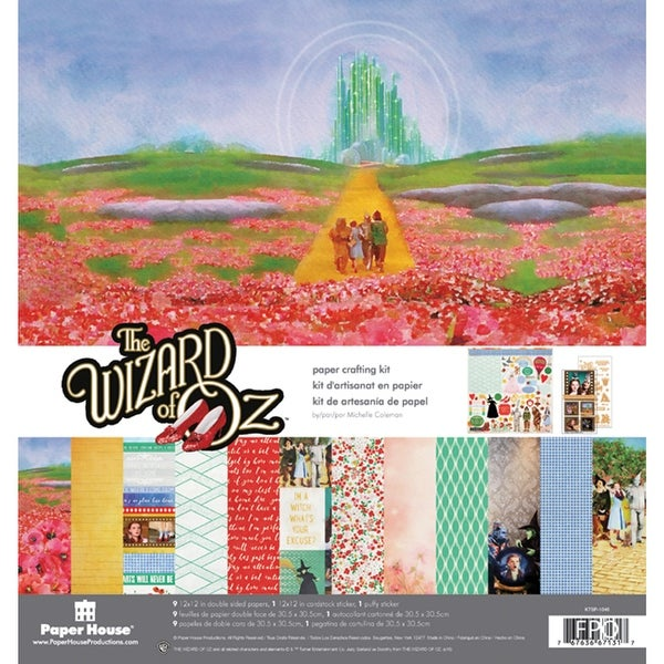 "Paper House Paper Crafting Kit 12""X12""-Wizard Of Oz"