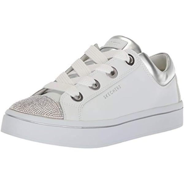 338a00a74 Shop Skecher Street Women's Hi-Lite-Rhinestone Toe Cap Sneaker,White/Silver  - Free Shipping Today - Overstock - 27121772