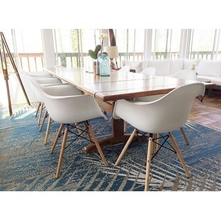 Siena Dining Chairs with Wood Legs by Corvus (Set of 2)