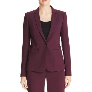 Elie Tahari Womens One-Button Blazer Crepe Professional