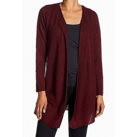 Magaschoni Red Women's Size XL Open Cardigan Cashmere Sweater