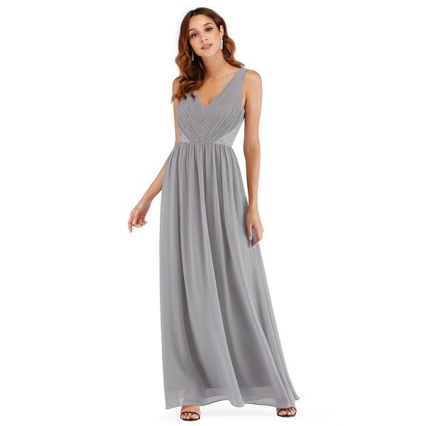 Ever-Pretty Women Fashion Deep V Neck Sleeveless Long Evening Party Dress 07497