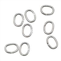 Silver Filled Open Jump Rings Oval 4x3mm 22 Gauge (24)