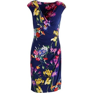 Lauren Ralph Lauren Womens Floral Print Knee-Length Wear to Work Dress