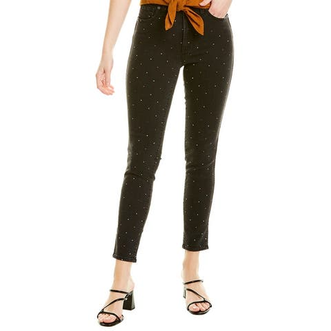 Madewell Black Lurex High-Rise Skinny Leg