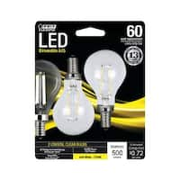 Feit Electric BPA1560C827LED2 LED Light Bulb, Clear, 6 Watts