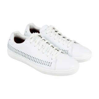 Skechers Chambord Mens White Leather Lace Up Lace Up Sneakers Shoes